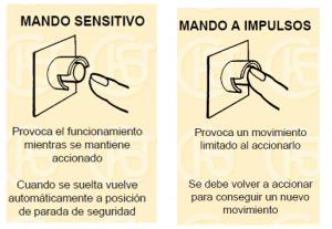 1. Sistemas de seguridad en la industria : Mando sensitivo y mando mediante impulsos